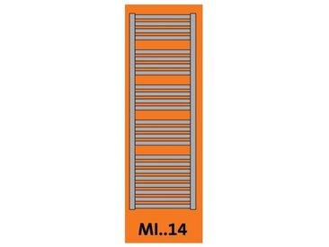 Seche-serviette electrique 1250W à fluide caloporteur 1485X750mm cintré avec thermostat radio MINORCA E RADSON MI0714EL