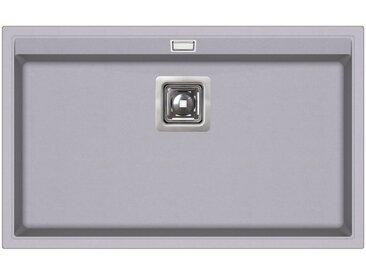Evier granit gris - rectangle sans égouttoir - DELICIA