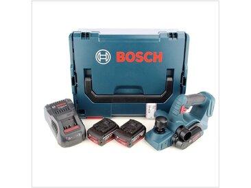 Bosch GHO 18 V-Li Rabot à batteries 18V Li-Ion set (2x batteries 5.0Ah) dans L-Boxx - 1,6mm - 82mm