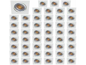 Lot De 50 Spot Led Carre Blanc 230V 38° Blanc Chaud