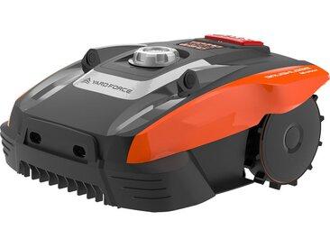 Outiror - Yard Force Robot Tondeuse Compact 280R avec iRadar-Capteurs Ultrasons pour Pelouse jusqu'à 280m² - Noir/Orange