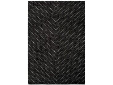Tapis scandinave pour salon graphique Barthelemy Graphite 200x290