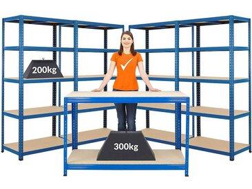Mega Deal | 1x établi et 4x rayonnages pour charges lourdes | profondeur 45 cm