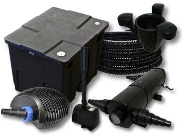 Kit filtration de bassin 12000l,24W Stérilisateur,CTF éco 40W Pompe 25m Tuyau Skimmer SK40 Fontaine