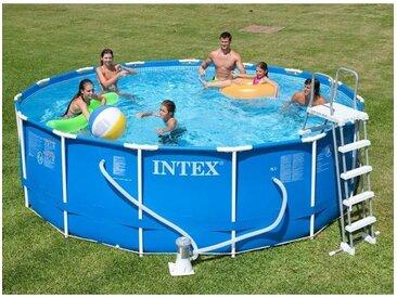 Kit piscine tubulaire Metal Frame 4,57 x 1,22 m (ex 28236NP) - Bleu - Intex