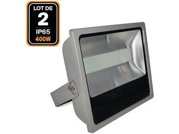 Lot de 2 Projecteurs Led 400W Blanc Froid industriel Haute Luminosité