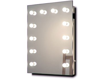 Diamond X Miroir de maquillage mural Hollywood Avec ampoules LED k90CWbath - Couleur LED : Ampoules LED blanches froides