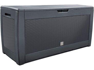 Vounot - Coffre de Rangement Exterieur 310L en PP 119x48x60CM Style Polyrotin Anthracite