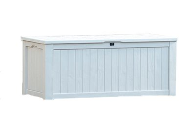 Coffre en résine aspect bois blanc - ROCKWOOD 570 L