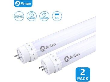 2×Anten 60CM Tube LED T8 G13 10W Néon LED Eclairage Plafonniers LED 1000 Lumen Tube Fluorescent Blanc Chaud 3000K Starters Fournis