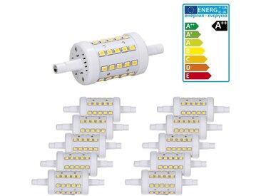 ECD Germany 10 x R7S Ampoules LED 7W 78mm 480 lumens angle de faisceau de 360 ° 220-240 AC remplace l'ampoule halogène 45W Blanc Neutre non réglable