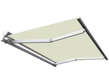 Store banne manuel Demi coffre pour terrasse - Écru - 3,6 x 3 m