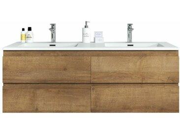 Meuble de salle de bain Angela 140cm F. Oak (Chene)– Armoire de rangement Meuble lavabo
