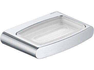 Porte-savon Keuco Elegance 11655, avec coupe en cristal mat, chromé - 11655019000