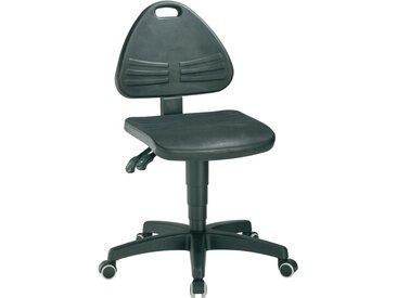 Chaise d'atelier pivotante ISITEC roulettes mousse structurée noir 430-600 mm