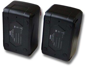 Lot 2 batteries Li-Ion vhbw 4000mAh (28V) pour visseuse-perceuse Milwaukee V28 IW etc. Remplace: 48-11-1830, 48-11-2830, 48-11-2850.