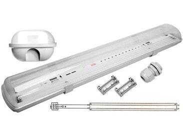Réglette LED étanche double pour Tubes lumineuse LED T8 60cm IP65 (boitier vide)