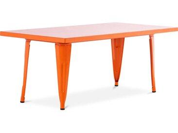 Table pour enfant de style Tolix - 120 cm - Métal Orange