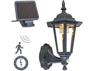 Lanterne murale d'extérieur anthracite avec LED et solaire - New York Qazqa Classique/Antique, Rustique Luminaire exterieur IP44