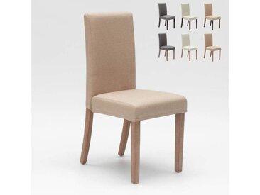 Chaise rembourrée style henriksdal pour cuisine salle à manger COMFORT | Shabby Beige