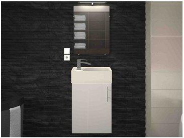 Lave-mains 40 cm blanc mat KANA - L 38.5 x l 21.3 x H 60 - Blanc