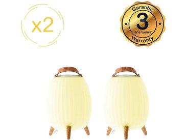 Lanterne nomade musicale EZIlight® Ambiant M - Pack de 2 lampes