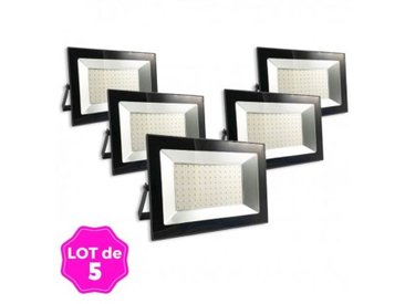 Lot de 5 Projecteurs LED 100W Ipad 6000K Haute Luminosité - LOT5FL1812