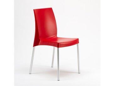 20 Chaises Grand Soleil BOULEVARD plastique polypropylene empilables stock   Rouge