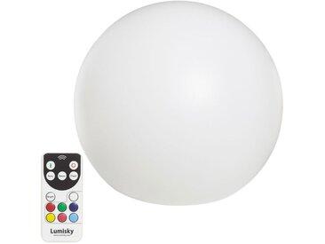 boule lumineuse multicolore rechargeable d\'extérieur d.60cm - BOBBY C60 - lumisky