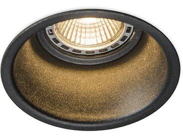 Spot Encastrable / Plafonnier rond noir - Dept. Qazqa Design, Moderne Luminaire interieur