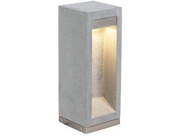 LED Lampe exterieure contemporaine grise 40 cm - Sneezy Qazqa Moderne Luminaire exterieur Pierre / Beton