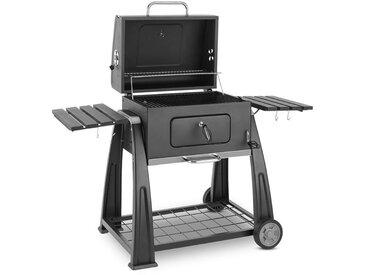 Klarstein Bigfoot Barbecue à charbon de bois fumoir BBQ 55 x 40 cm acier - noir