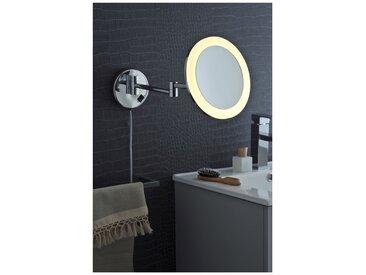 Miroir Grossissant (X3) Lumineux Mural - Diamètre: 21,5 cm