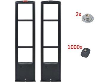 Systeme d'antenne RF avec etiquettes et detacheurs 8,2MHz Noir