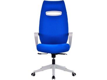 Chaise pivotante de bureau Spectra - Dossier design avec appuie-tête, bleu
