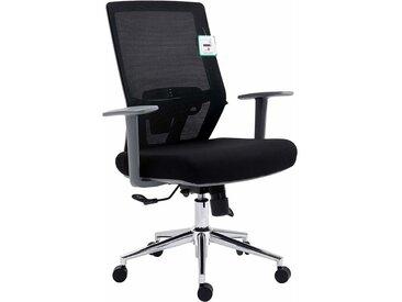 Cherry Tree Furniture Fauteuil de bureau ergonomique pivotant avec support lombaire ajustable et dossier inclinable Synchro-Tilt en maille noire