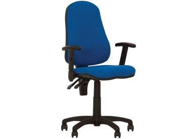 Offix- Fauteuil, Chaise De Bureau Ergonomique, Dossier Inclinable. Tissu Bleu.