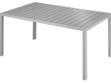 Tectake - Table de Jardin Extérieure design Pieds réglables Cadre en Aluminium 150 cm x 90 cm x 74,5 cm Gris