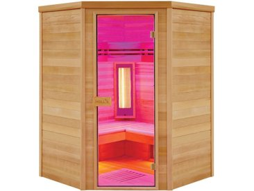 Sauna infrarouge angulaire Multiwave 3C - Holl's - 3/4 places