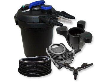 SunSun Kit filtration bassin à pression 10000l 11W UVC NEO10000 80W Pompe 25m Tuyau Skimmer SK30