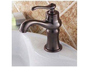 Robinet lavabo mitigeur classique sous forme de théière cuivré