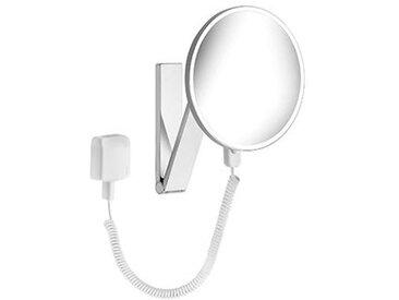 Keuco iLook_move Miroir grossissant, 17612, illuminé, 1 couleur claire, avec 212mm, chromé - 17612019001