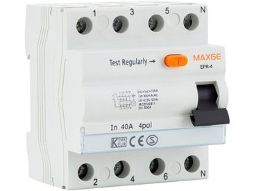 Interrupteur différentiel Industriel 4P-300mA-Clase AC-6kA 25 A