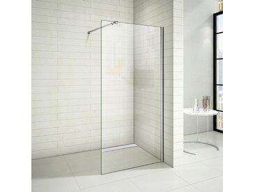 Paroi de douche 50x200cm paroi de douche à l'italienne avec le caniveau de douche 50cm