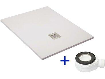 PDD - Receveur de douche extra plat QUARTZ blanc Ral 9003 80X140