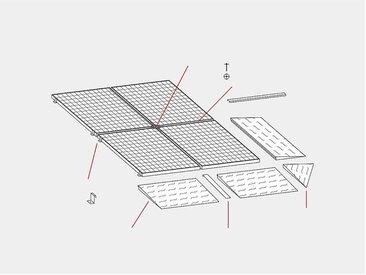 Elément d'angle pour cuve plate en acier - l x p 1150 x 1150 mm, galvanisé - charge max. par essieu 500 kg