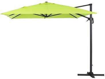 "Parasol jardin déporté Alu ""Sun 4"" - Rectangle- 3 x 4 m - Vert"