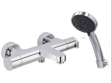 Galindo AROHA Robinet mitigeur thermostatique bain-douche (laiton), finition chrome.