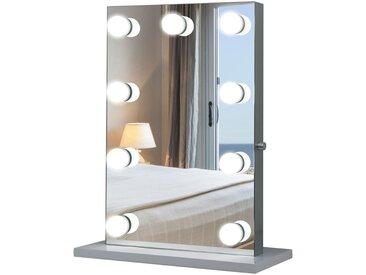 Miroir maquillage Hollywood pour coiffeuse, grand miroir lumineux de table dim. 60L x 22l x 72H 9 ampoules LED