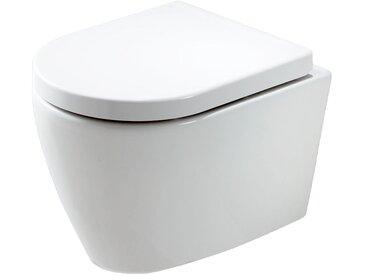 WC suspendu B-8030 - blanc - abattant softclose inclus: Avec standard veilleuse LED